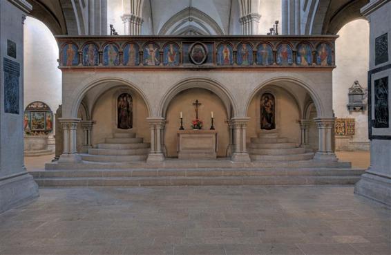 Der Ostlettner der Naumburger Kathedrale – Bildnachweis: Vereinigte Domstifter, Foto M. Rutkowski